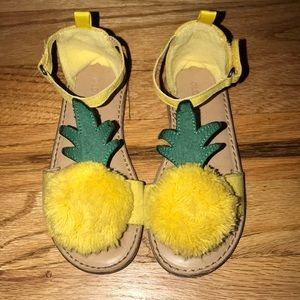 Toddler pineapple sandals